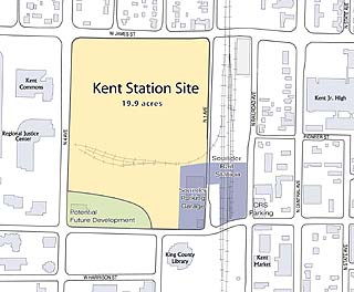 map of Kent downtown