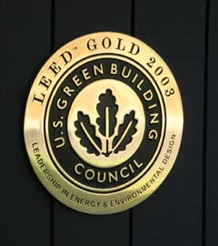 LEED gold rating