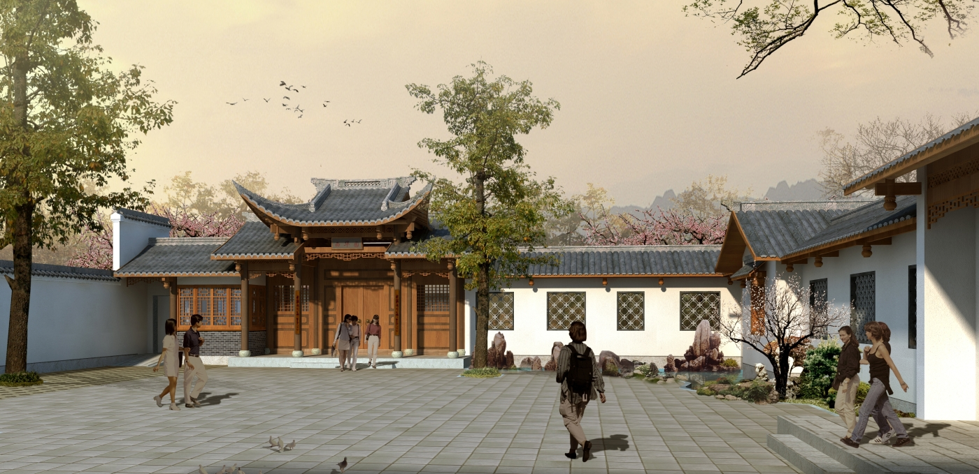 the courtyard will be the first major structure for the seattle chinese garden - Seattle Chinese Garden
