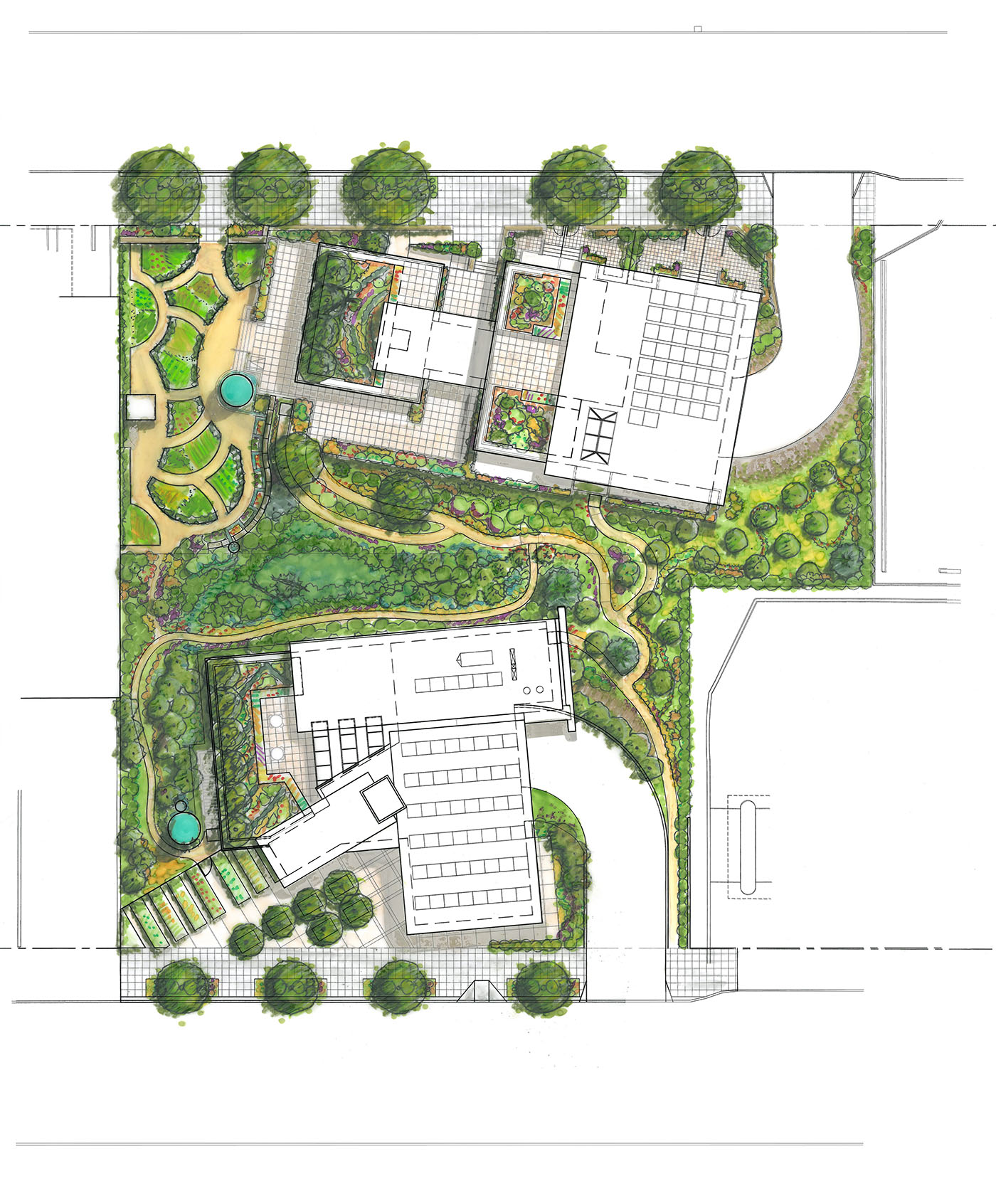 Seattle local business news and data environment for Landscape design site plan