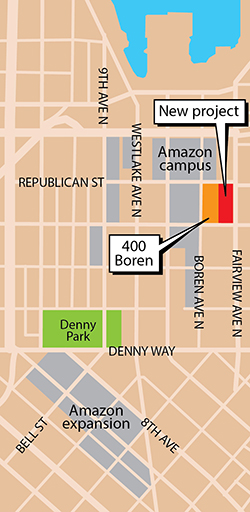 Amazon South Lake Union Campus Map.Seattle Daily Journal Of Commerce